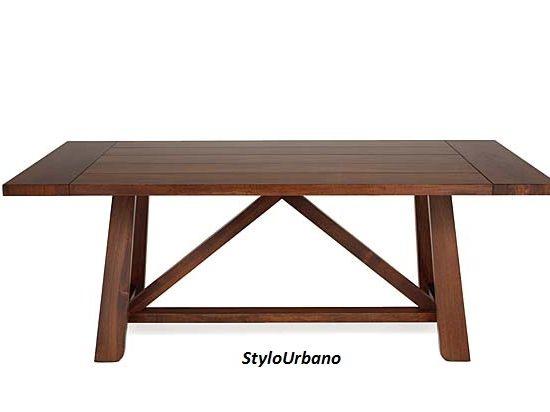 Mesa de comedor Newdor 2 bases rectas tapa madera/opcion tapa marmol ...